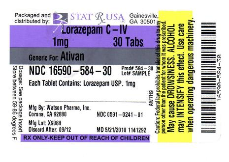 ativan tablets pack